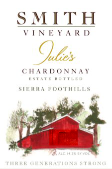 2015 Estate Chardonnay | Julie's Chardonnay | Sierra Foothills | Smith Vineyard